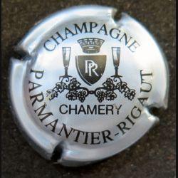 Capsule Muselet de bouteille de champagne Parmantier Rigaut gris et noir