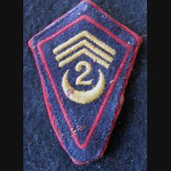 LOSANGE DE BRAS MODÈLE 45 :  modèle troupe 2° régiment de spahis algériens de reconnaissance Sidi-Bel-Abbès 1944