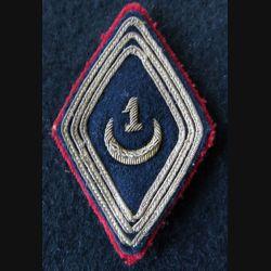 LOSANGE DE BRAS MODÈLE 45 :  modèle sous officiers 1° régiment de spahis algériens Médéa 1946 cannetille