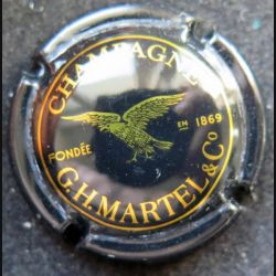 Capsule Muselet de bouteille de champagne G.H Martel or et noir