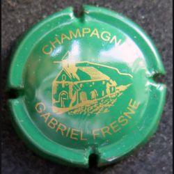 Capsule Muselet de bouteille de champagne Gabriel Fresne vert et or