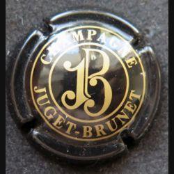 Capsule Muselet de bouteille de champagne Juget Brunet noir et or