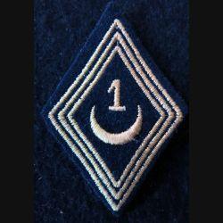 LOSANGE DE BRAS MODÈLE 45 :  modèle troupe 1° régiment de spahis algériens AFN