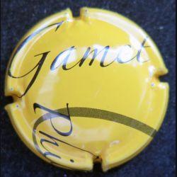 Capsule Muselet de bouteille de champagne Gamet philippe fond jaune d'or