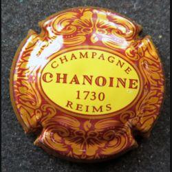 Capsule Muselet de bouteille de champagne Chanoine lettres rouges