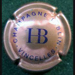 Capsule Muselet de bouteille de champagne H. Blin rosé et violet foncé