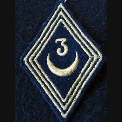 LOSANGE DE BRAS MODÈLE 45 :  modèle troupe 3° régiment de spahis algériens FFA avant 1964