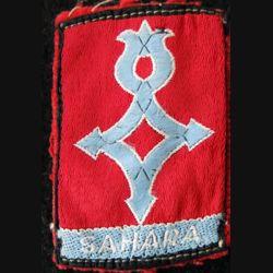 GRANDES UNITÉS : insigne de bras en tissu des troupes sahariennes AFN 1960
