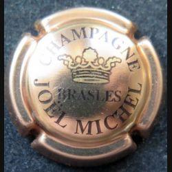 Capsule Muselet de bouteille de champagne Joël Michel Rosé et noir