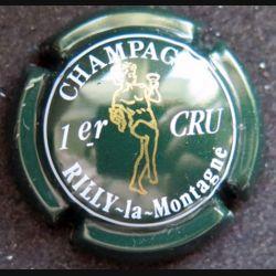 Capsule Muselet de bouteille de champagne Rilly-la-Montagne vert angelot or