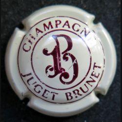 Capsule Muselet de bouteille de champagne Juget Brunet crème et marron