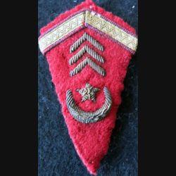 LOSANGE DE BRAS MODÈLE 45 : modèle précoce de sergent des affaires Sahariennes