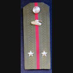 URSS : épaulette de lieutenant des troupes blindées soviétiques