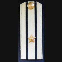 URSS : épaulette de capitaine de 3° Classe (capitaine de corvette) de la marine soviétique