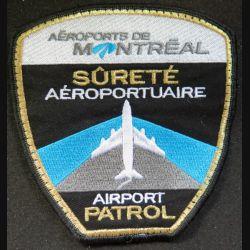Canada patch tissu Airport patrol sureté aéroportuaire aéroports de Montréal 11 x 11 cm