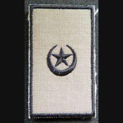 Galon tissu de commandant major du Pakistan sur scratch 6,5 x 3,5