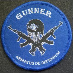 insigne tissu des forces armées de l'Inde Gunner armatus de defendum 9 cm scratch