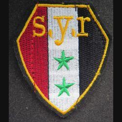insigne tissu des forces armées syriennes 8 x 7 cm scratch