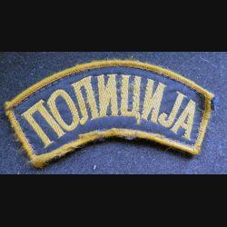 insigne tissu des forces de police de la Bosnie Herzégovine 9 cm scratch