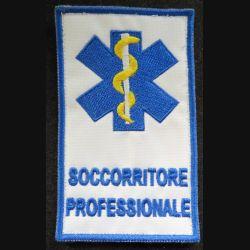 insigne tissu des ambulances italiennes soccorritore professionale  6 x 10 cm