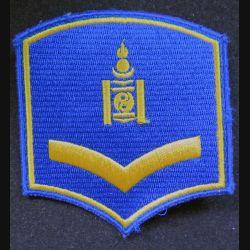 insigne tissu de Mongolie 7,5 x 8,5 cm