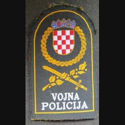 insigne tissu de la Police militaire croate  7,5 x 12,5 cm