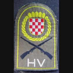 insigne tissu des forces armées croates  7,5 x 11,5 cm