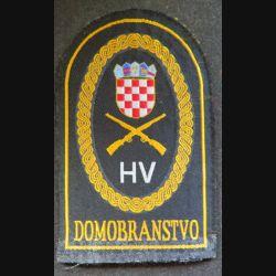 insigne tissu des forces de la défense territoriale croate  7,5 x 12 cm