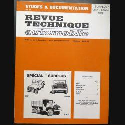 Revue technique automobile surplus Jeep Dodge GMC
