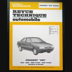 Revue technique automobile Peugeot 405 DIESEL, GLD, GRD, GRD TURBO, SRD TURBO, berline et break