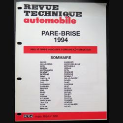 Revue technique automobile Pare Brise 1994 tous modèles (voir photo)