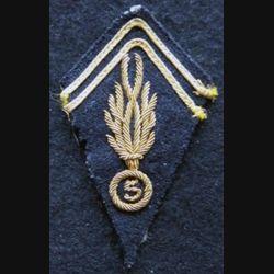 LOSANGE DE BRAS MODÈLE 45 : modèle précoce maréchal des logis Gendarmerie en Indochine (cannetille)