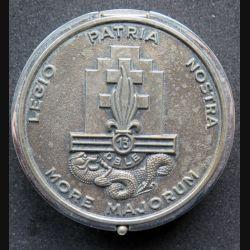 13° DBLE : Boite à bijoux argentée de la 13° Demi brigade de la légion étrangère 8 cm