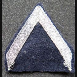 Galon de sergent PDL argenté sur tissu noir avec crochets