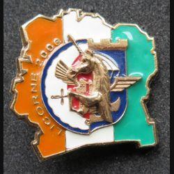 17° RGP : 1° compagnie du 17° Régiment du génie parachutiste Licorne 2006 en bronze massif (Leblond) n° 160