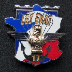17° RGP : insigne métallique des EVAT du 17° régiment du génie parachutiste N° 448