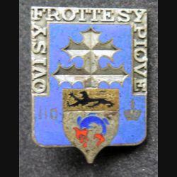 110° RI : 110° Régiment d'infanterie de fabrication Andor en émail sans attache