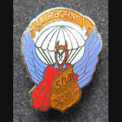 82° AIRBORNE 504° Devils US regiment. en émail