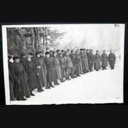 URSS : photo des tankistes de l'armée rouge 18 x 12 cm
