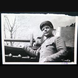 URSS : photo d'un Commandant (Major) des troupes blindées de l'armée rouge 18 x 12 cm