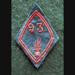 LOSANGE DE BRAS MODÈLE 45 : modèle troupe 93° bataillon d'infanterie d'infanterie période 1946