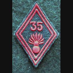 LOSANGE DE BRAS MODÈLE 45 : modèle troupe 35° régiment d'infanterie