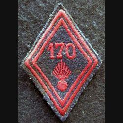 LOSANGE DE BRAS MODÈLE 45 : modèle troupe 170° régiment d'infanterie