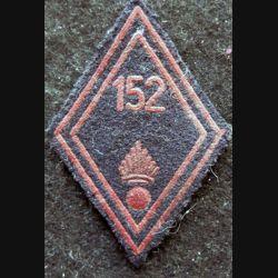 LOSANGE DE BRAS MODÈLE 45 : modèle troupe 152° régiment d'infanterie AFN