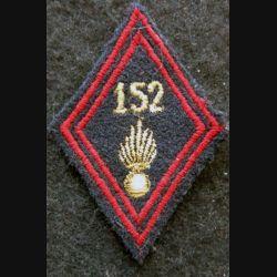 LOSANGE DE BRAS MODÈLE 45 : modèle sous officiers 152° régiment d'infanterie