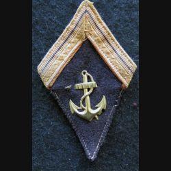 LOSANGE DE BRAS MODÈLE 45 : modèle précoce sergent infanterie coloniale période Indochine 1945-1947