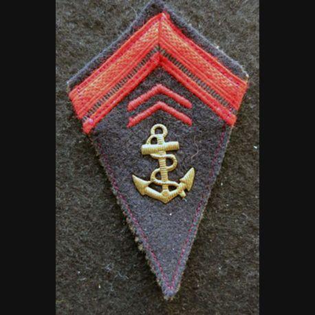 LOSANGE DE BRAS MODÈLE 45 : modèle précoce 1° classe infanterie coloniale période Indochine 1945-1947