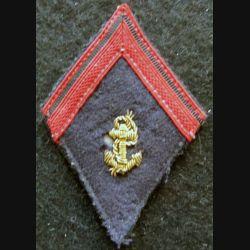 LOSANGE DE BRAS MODÈLE 45 : modèle précoce 1° classe infanterie coloniale période Indochine 1950-1954 cannetille