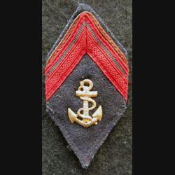 LOSANGE DE BRAS MODÈLE 45 : modèle 1° classe infanterie coloniale période AFN