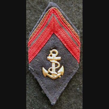 LOSANGE DE BRAS MODÈLE 45 : modèle 1° classe infanterie coloniale ou troupe de marine